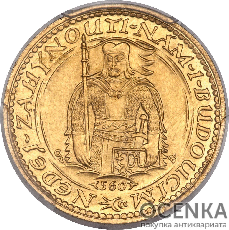 Золотая монета 1 Дукат (1 Dukát) Чехословакия - 1