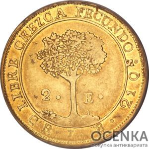 Золотая монета 2 Эскудо (2 Escudo) ЦАР