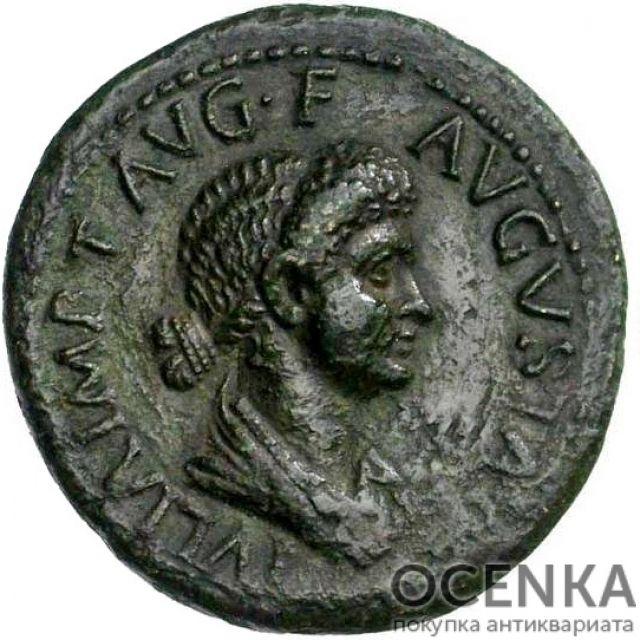 Медная монета Дупондий древнего Рима - 2