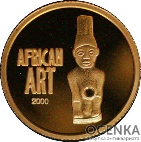 Золотая монета 20 Франков (20 Francs) Конго - 3
