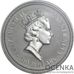 Платиновая монета 100 долларов Австралии