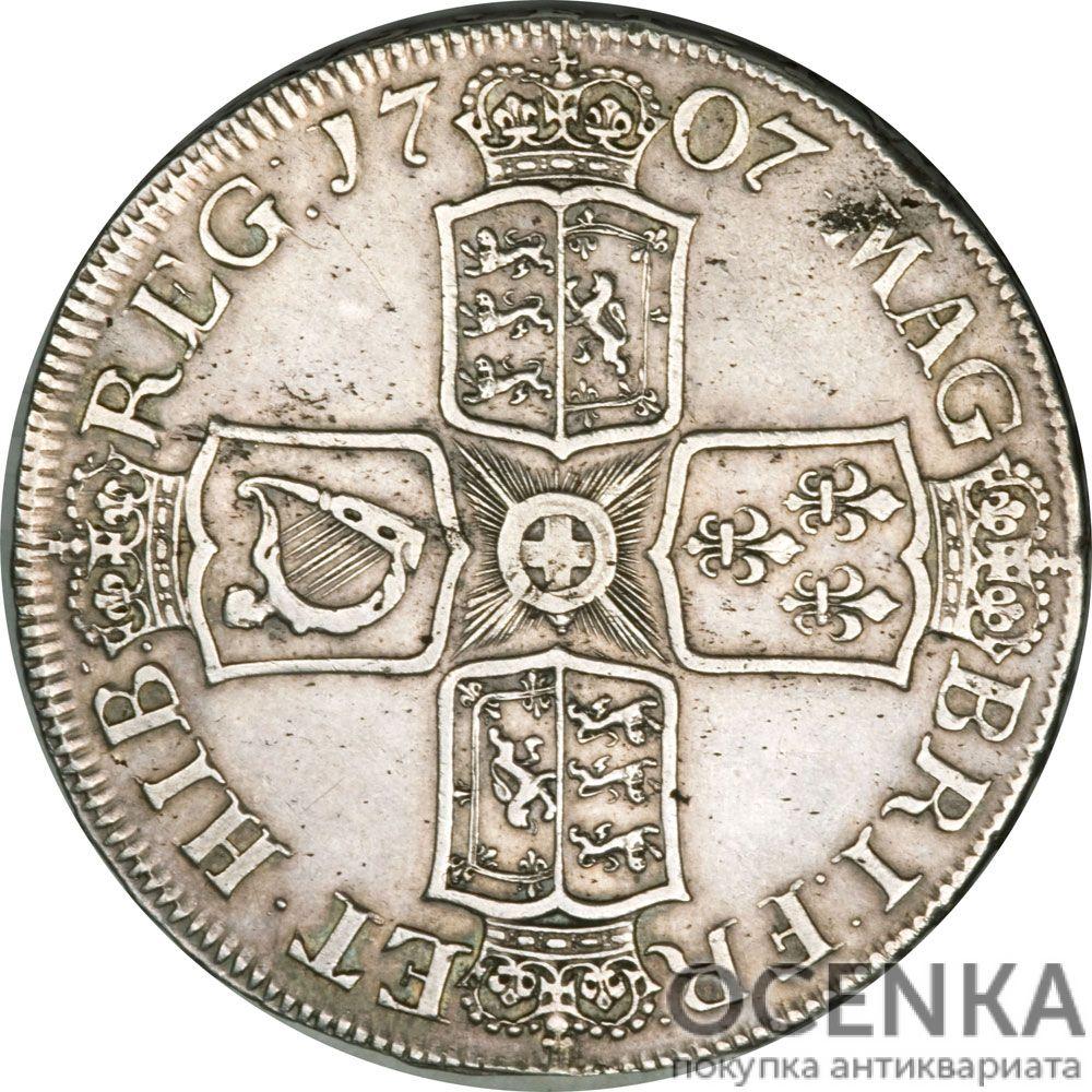 Серебряная монета 1 Крона (1 Crown) Великобритания - 4