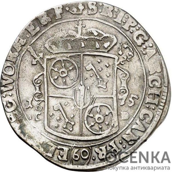 Серебряная монета 60 Крейцеров (60 Kreuzer) Германия - 2