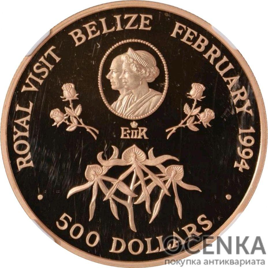 Золотая монета 500 долларов Белиза - 4