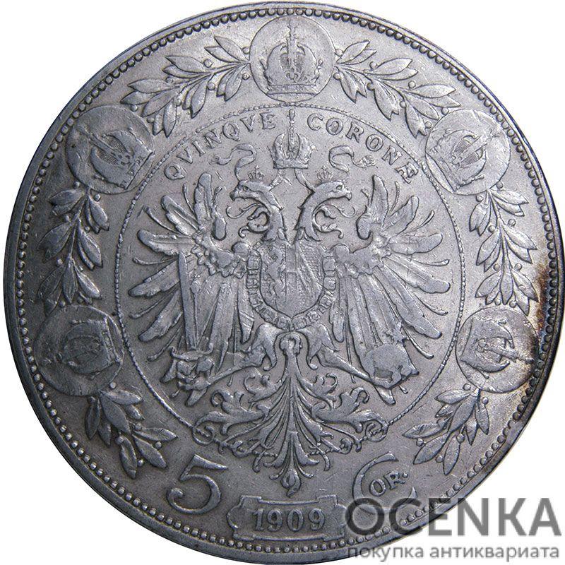 Серебряная монета 5 Крон (5 Corona) Австро-Венгрия - 4
