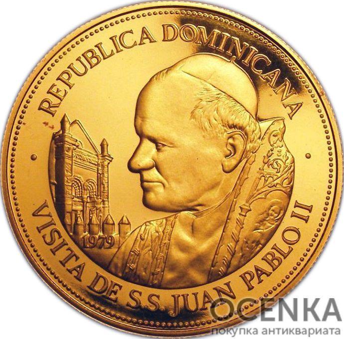 Золотая монета 250 Песо (250 Pesos) Доминикана - 1