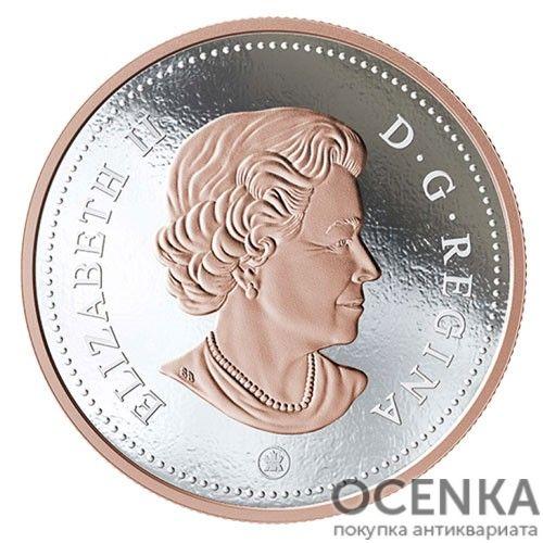 Серебряная монета 10 Центов Канады - 7