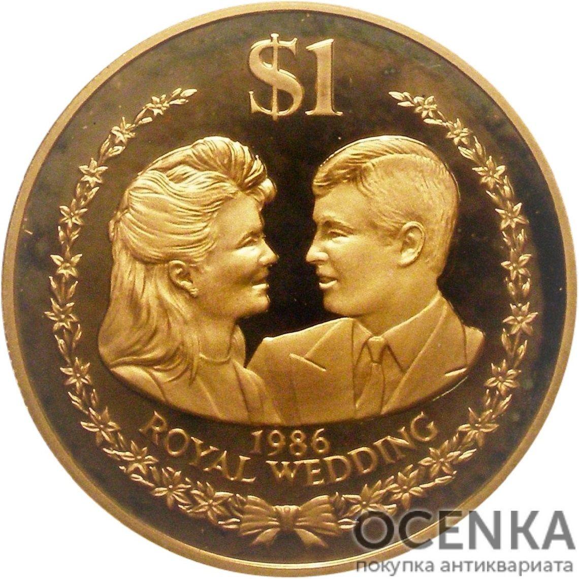 Золотая монета 1 Доллар Островов Кука