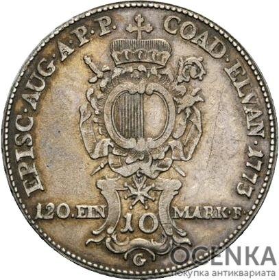 Серебряная монета 10 Крейцеров (10 Kreuzer) Германия