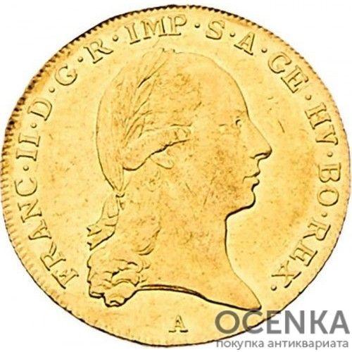 Золотая монета 2 дуката Австро-Венгрии - 1
