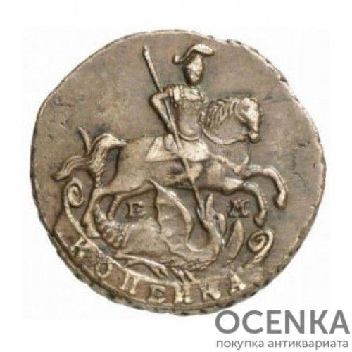 Медная монета 1 копейка Екатерины 2 - 6
