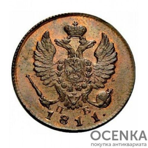 Медная монета Деньга Александра 1 - 7
