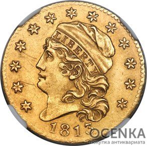 Золотая монета 5 Dollars (5 долларов) США - 7