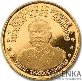 Золотая монета 100 Франков (100 Francs) Бурунди - 3