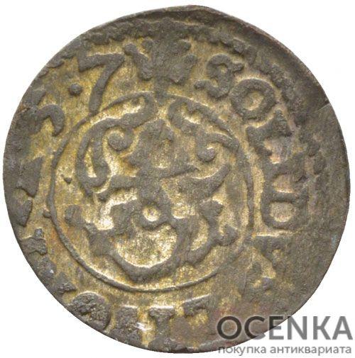 Серебряная монета Солид Средневековой Литвы - 2
