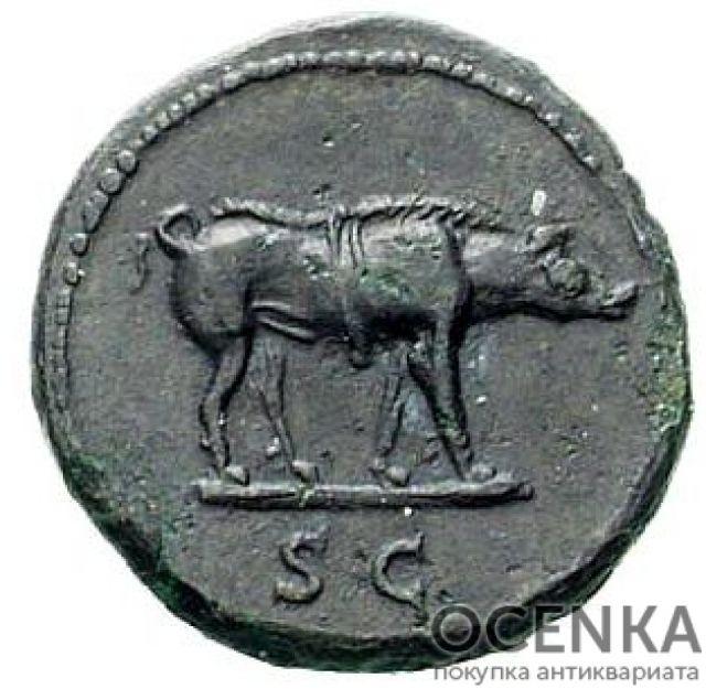 Медная монета Квадранс древнего Рима - 1