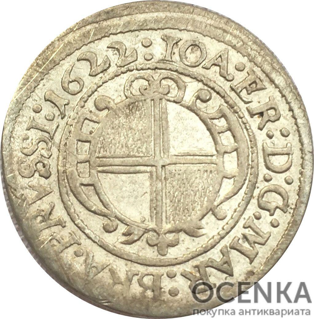 Серебряная монета 3 Крейцера (3 Kreuzer) Германия - 7