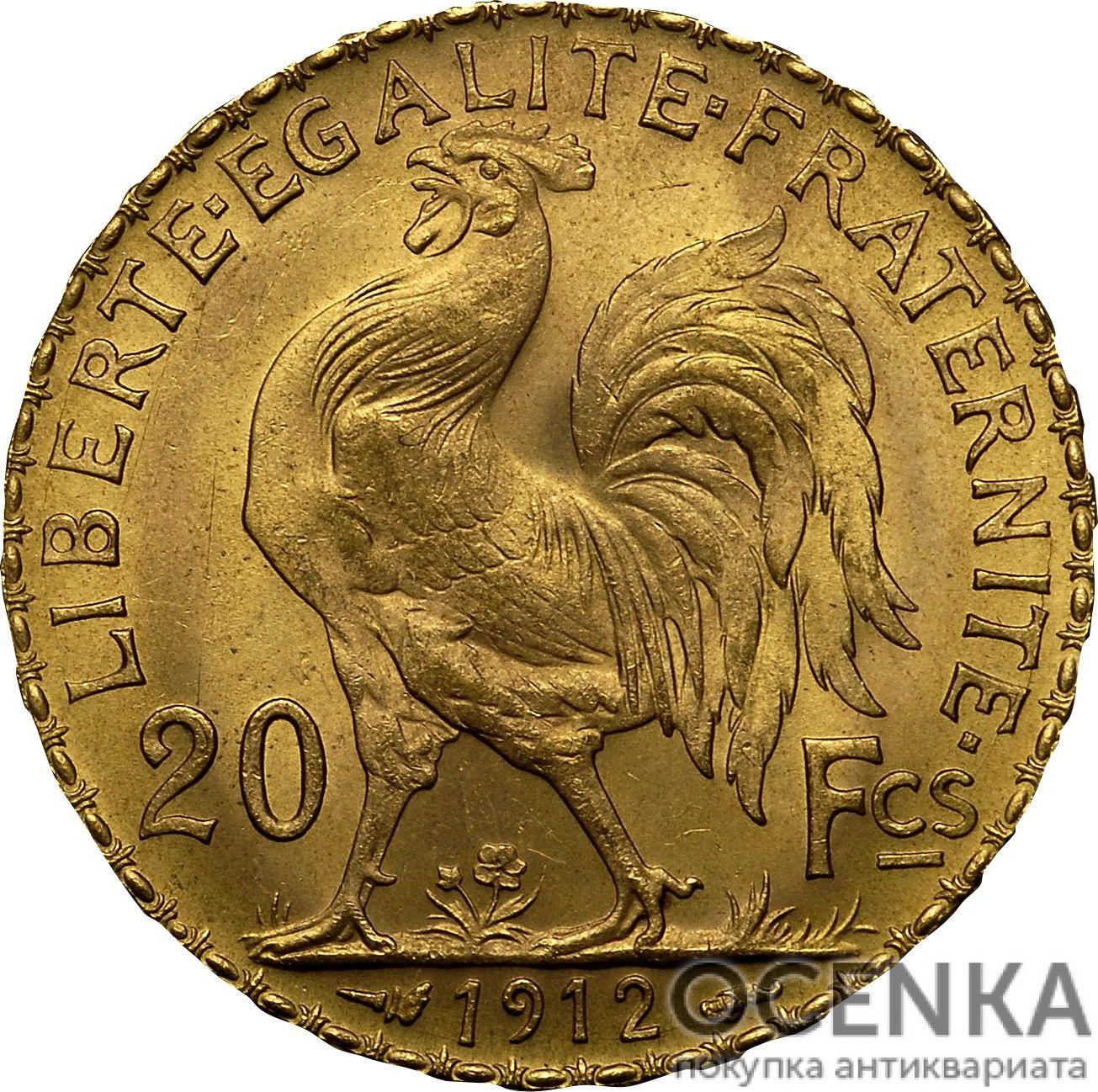 Золотая монета 20 Франков (20 Francs) Франция - 10