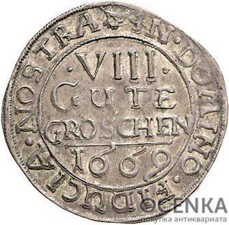 Серебряная монета 8 Грошей (8 Groschen) Германия - 4