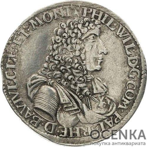 Серебряная монета Гульден Средневековой Германии - 5
