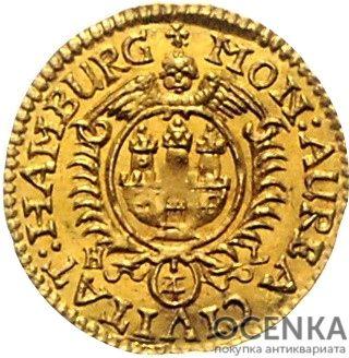Золотая монета ¼ Дуката Германия - 3