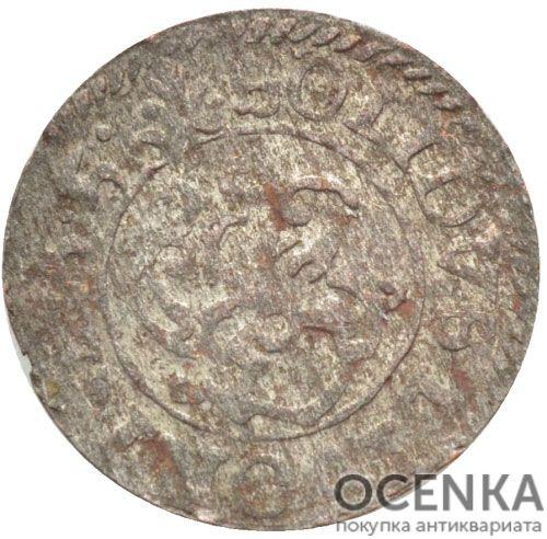 Серебряная монета Солид Средневековой Литвы