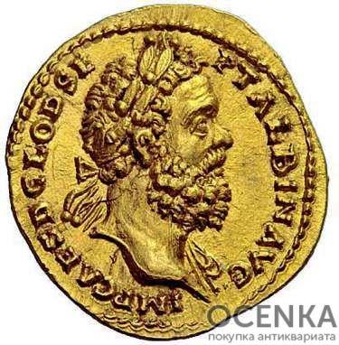 Золотой ауреус, Децим Клодий Септимий Альбин, 195-197 год