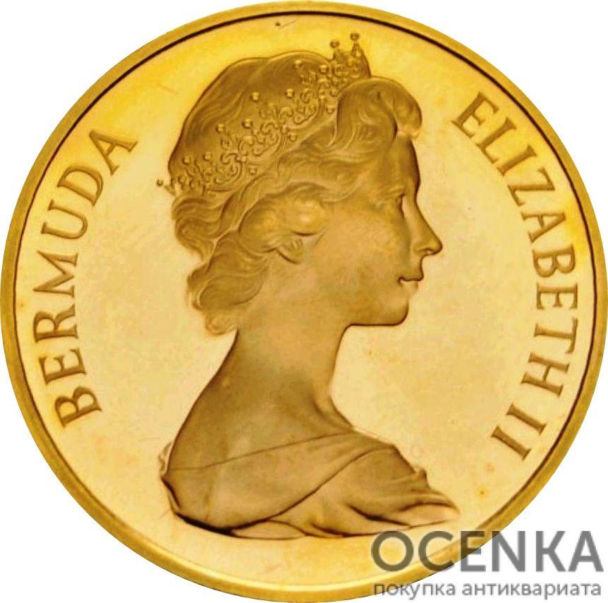 Золотая монета 20 долларов Бермудских островов - 1