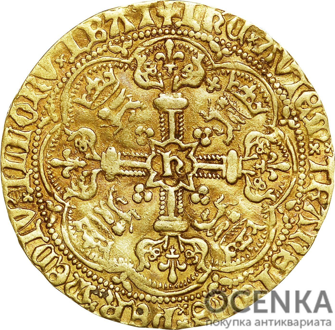 Золотая монета 1 Noble (нобль) Великобритания - 7