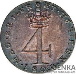 Серебряная монета 4 Пенса (4 Pence) Великобритания - 4