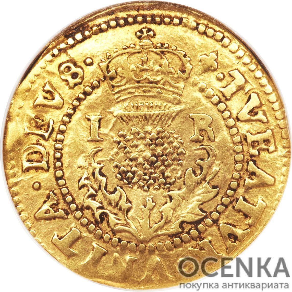 Золотая монета 1 Crown (крона) Великобритания - 1