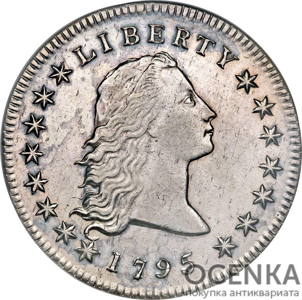 Серебряная монета 1 Доллар (One Dollar) США - 3