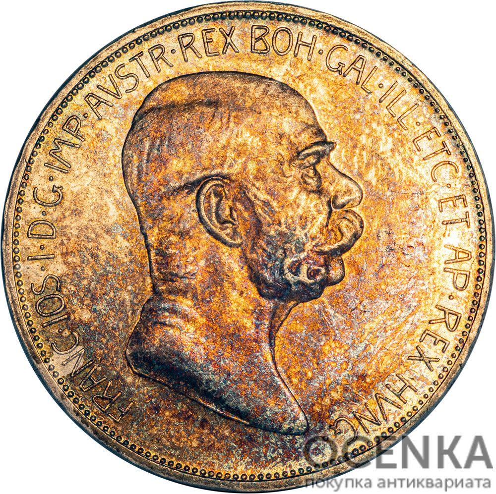 Серебряная монета 5 Крон (5 Corona) Австро-Венгрия - 3