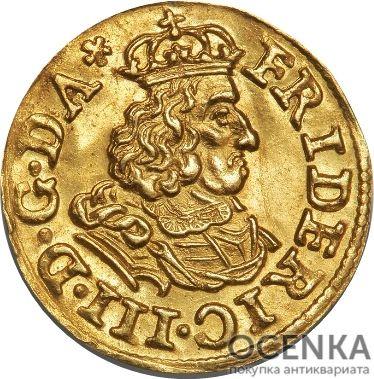 Золотая монета ¼ Дуката (¼ Ducat) Дания - 3