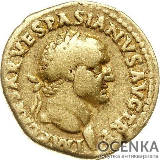 Золотой ауреус, Тит Флавий Цезарь Веспасиан Август, 69-79 год