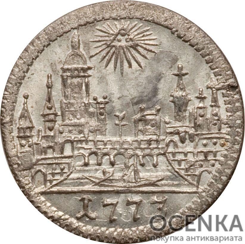 Серебряная монета 1 Крейцер (1 Kreuzer) Германия - 6