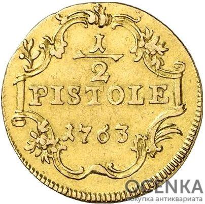 Золотая монета ½ Пистоля Германия
