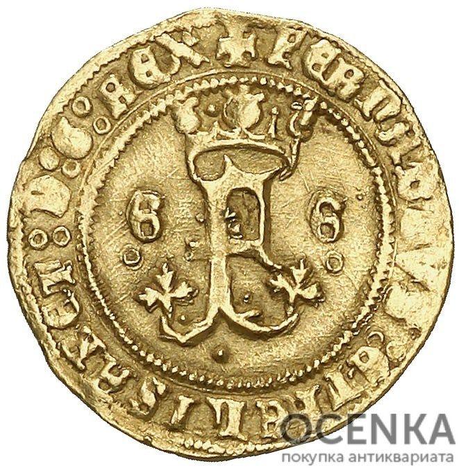 Золотая монета ½ Экскеленца (½ Excelente) Испания - 1