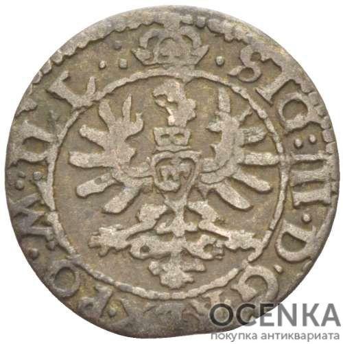 Серебряная монета Двойной Денарий Средневековой Литвы - 4
