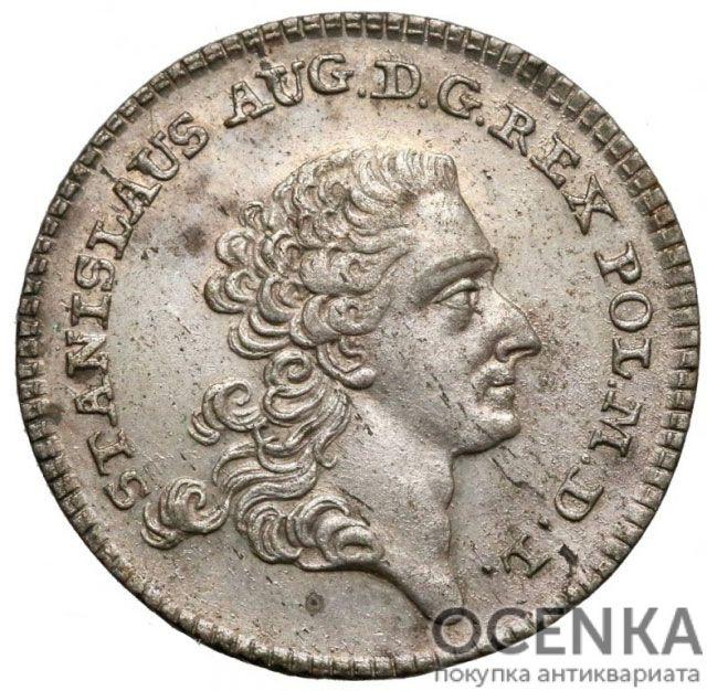 Серебряная монета Шестак (6 грошей) Средневековой Польши - 1