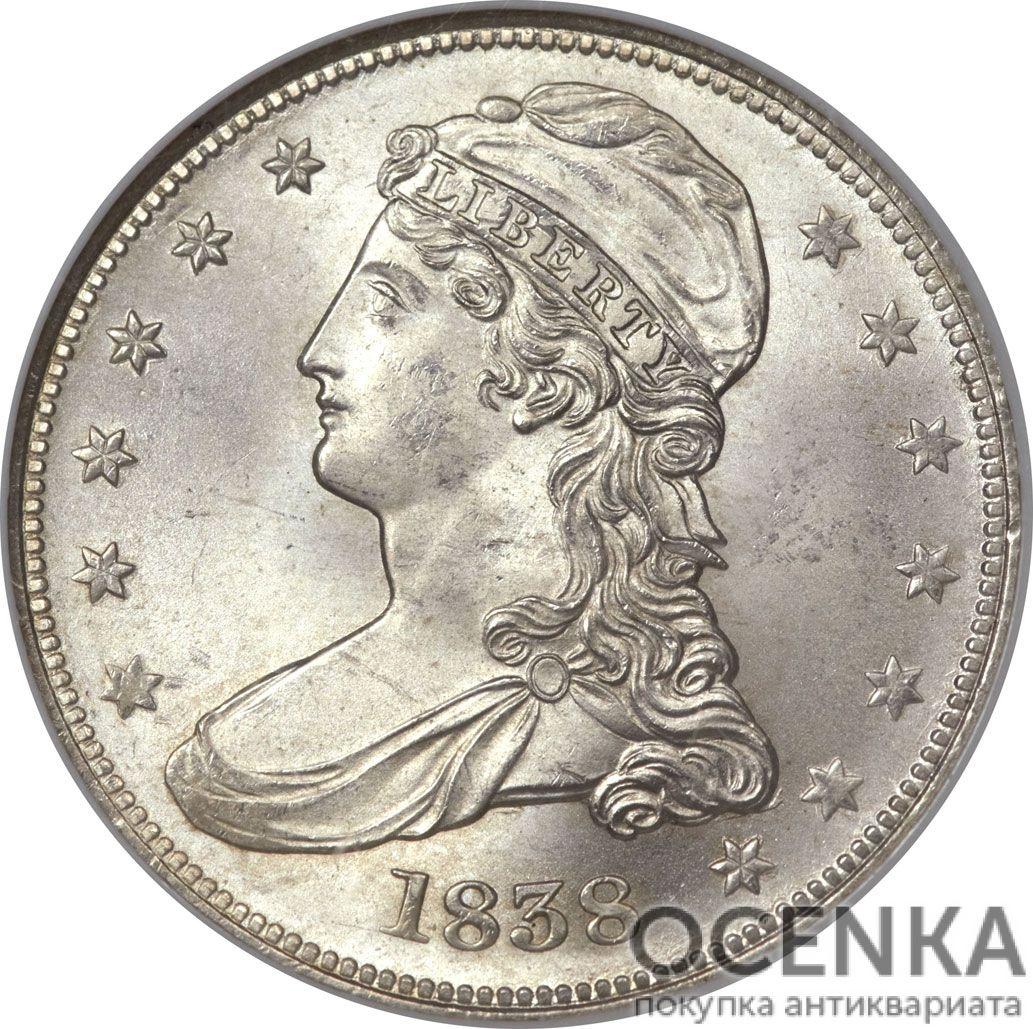 Серебряная монета ½ Доллара (Half Dollar) США - 1