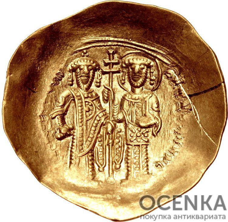 Золотой иперпир Византии, Алексей III Ангел, 1195-1203 год - 1
