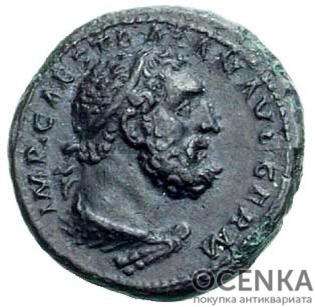 Медная монета Квадранс древнего Рима