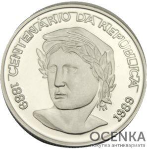 Серебряная монета 200 крузейро (200 Cruzados) Бразилия - 1