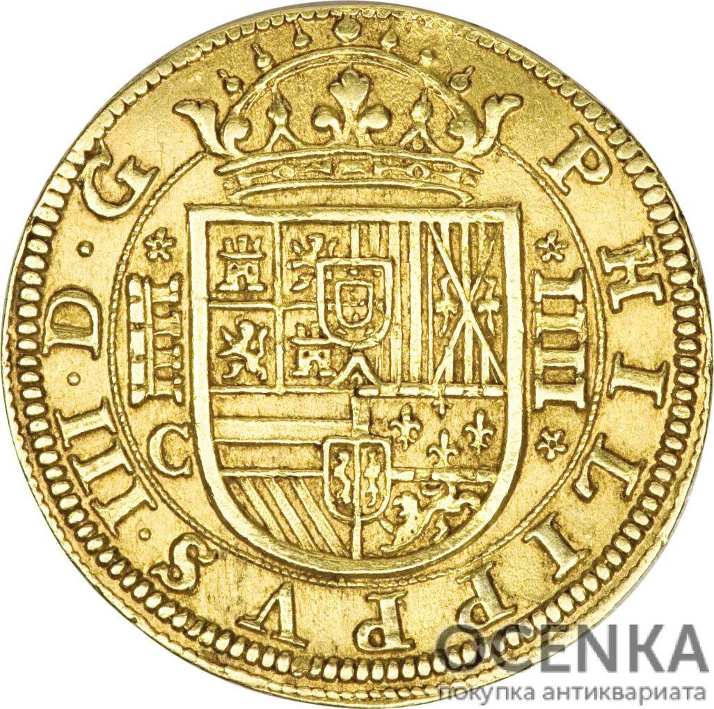 Золотая монета 4 Эскудо (4 Escudos) Испания - 1