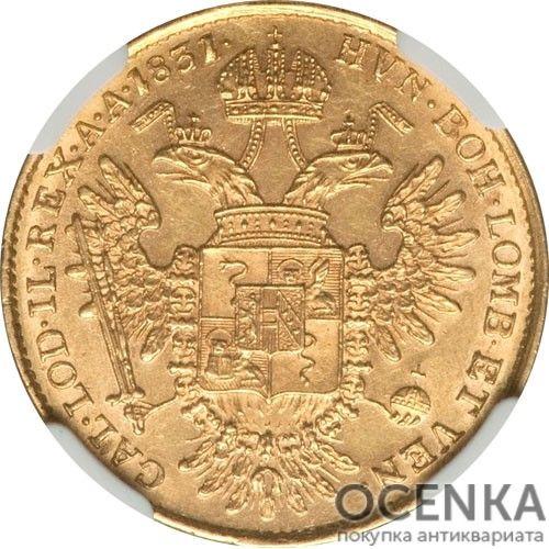 Золотая монета полсоврано Австро-Венгрии