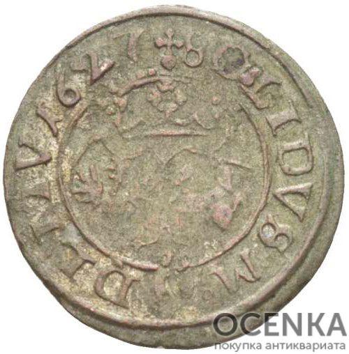 Серебряная монета Двойной Денарий Средневековой Литвы - 2