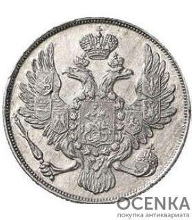 Платиновая монета 3 рубля 1836 года - 1