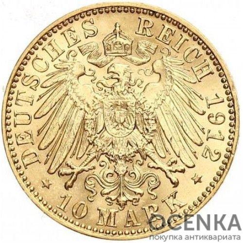 Золотая монета 10 Марок Германия - 6