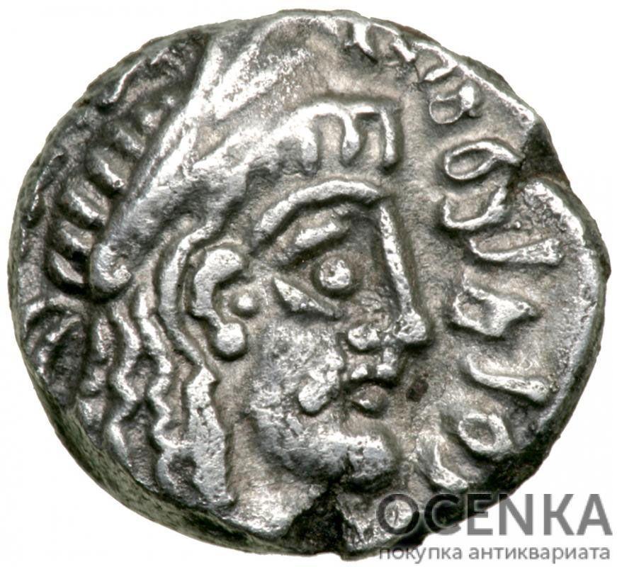 Серебряная монета Дархма Древней Греции - 3